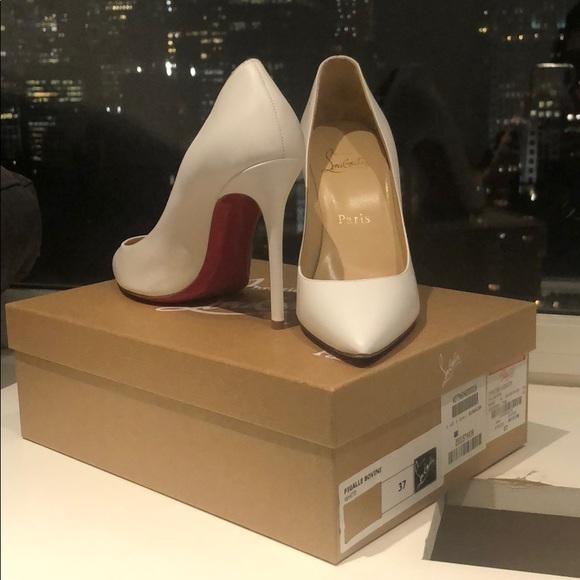 Christian Louboutin Shoes - NWT sz 37 white pigalle Christian louboutin heels